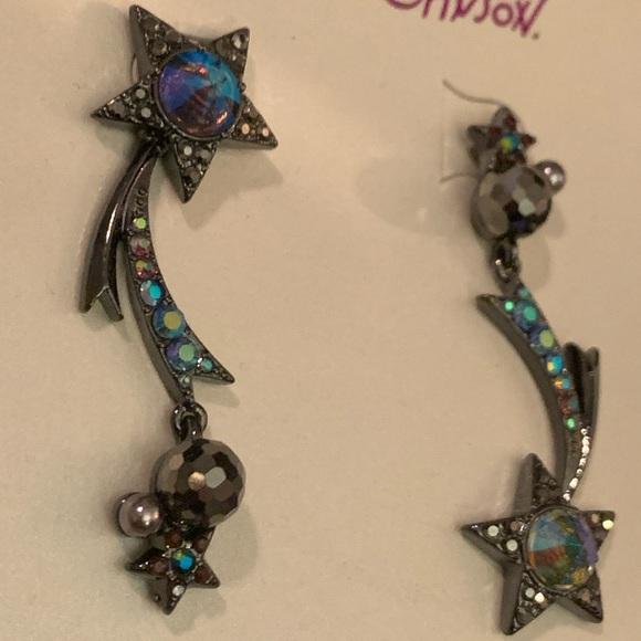 Betsey Johnson Jewelry - NWT Betsey Johnson shooting star black earrings